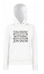 Bluza damska kangur YOU KNOW NOTHING JON SNOW