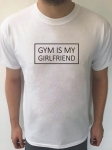 Koszulka z nadrukiem GYM IS MY GIRLFRIEND