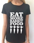 Koszulka z nadrukiem EAT MORE RABBIT FOOD