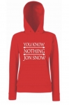 Bluza męska kangur YOU KNOW NOTHING JON SNOW