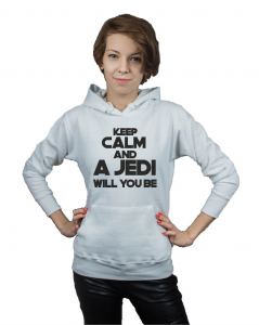 Bluza damska kangur KEEP CALM AND A JEDI WILL YOU BE