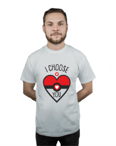 Koszulka męska z nadrukiem I Choose You Pokemon