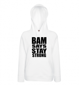 Bluza damska kangur BAM SAYS STAY STRONG
