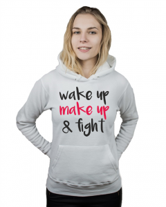 Bluza damska kangur WAKE UP MAKE UP FIGHT