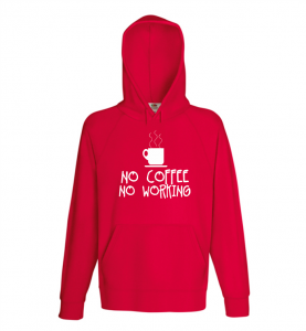 Bluza damska kangur NO COFFEE NO WORKING