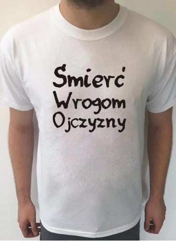 88bd95e6d2c5 Koszulka z nadrukiem ŚMIERĆ WROGOM OJCZYZNY BFE8-2603A ...