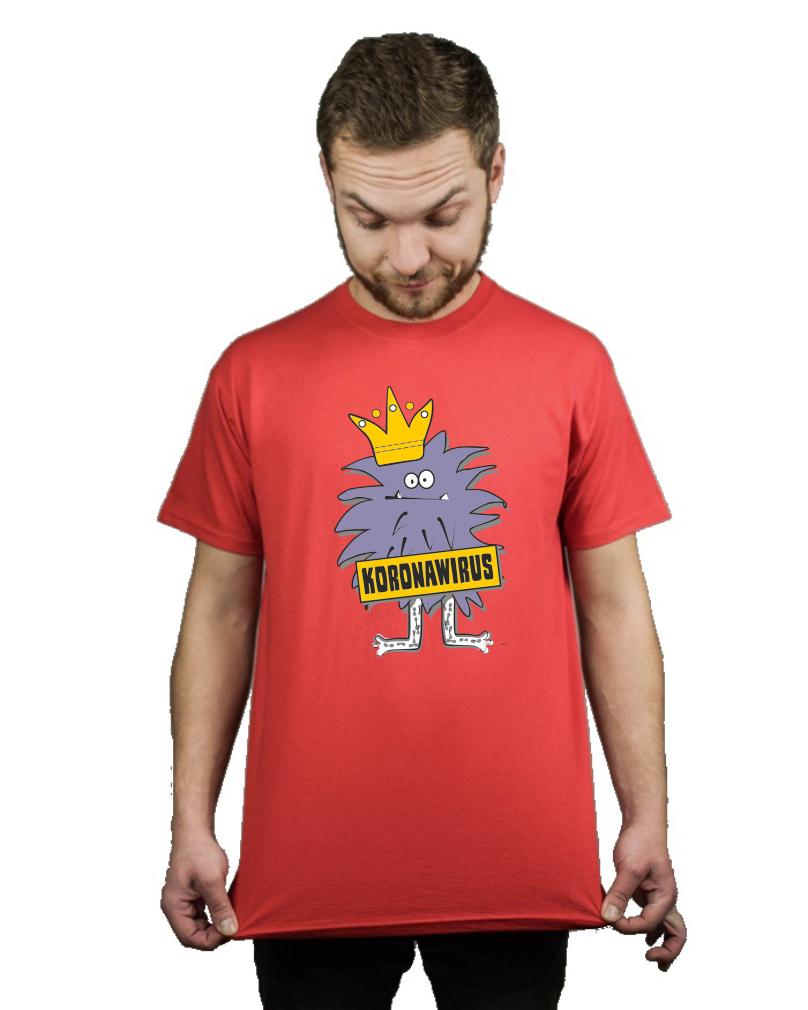 Koszulka Meska Koronawirus Bakteria